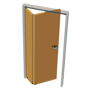 Asymmetric Folding Door Fitting - Kit for One Folding Door Divided in two different parts