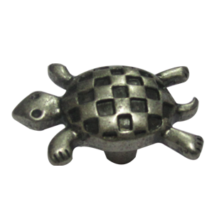 Turtle Antique Silver Kids Cabinet Knob