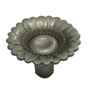 Flower Cabinet Knob - Silver Finish - 30X25X25mm