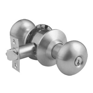 Bathroom Cylindrical Knobset  - 60mm BS - Stainless Steel Finish