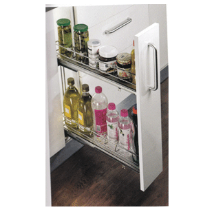 FUSION Plus Series 2 Tier Bottle Pull Out - Carcase Size - 150mm