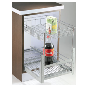 MAK Series Organizer with 2 Shelves Pull Out - Carcase Size - 450mm