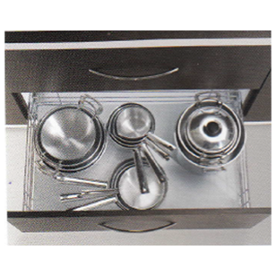 FUSION SERIES Large Utensil Basket Pull Out - Carcass Size : 600mm - Size : (WxDxH) - 530x508x100mm