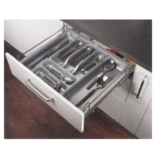 FUSION PLUS SERIES Cutlery Basket Pull Out - Carcass Size : 450mm - Size : (WxDxH) - 390x500x100mm