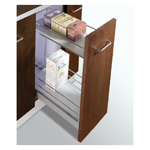 MAK PLUS SERIES Trolly with 2 Shelves Pull Out - Carcass Size : 300mm - Size : (WxDxH) - 210x508x530mm