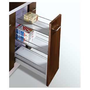 MAK PLUS SERIES Trolly with 3 Shelves Pull Out - Carcass Size : 300mm - Size : (WxDxH) - 210x508x530mm