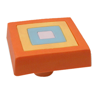 Multicolour Square Cabinet Knob