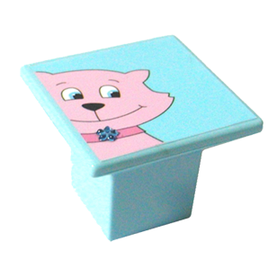 Cat Design Kids Cabinet Knob