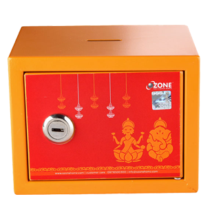 Kids Money Bank Safe - Weight : 0.800kg - Orange Colour