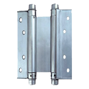 Double Action Spring Hinges - 4 Inch - Stainless Steel Finish