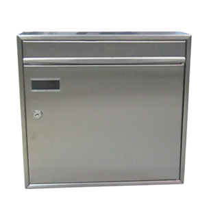 Rectangular Locking Stainless Steel Wall Mount Mailbox