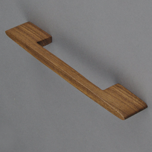 LATITUDE 160 - Wooden Cabinet Handle - 160mm - Walnut clear lacquered Finish