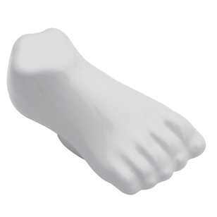 Body Line Foot Cabinet Knob - White color