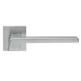 STREAM Mortise Handle on Rose - Satin Chrome Finish
