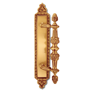 MATERA Door Pull Handle with plate - Gold Finish