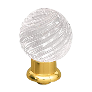 Arianna Crystal Door Knob - Gold Finish - Size - 25mm