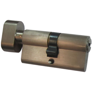 High Security Cylinder with Turn Knob - 60mm - SS Finish