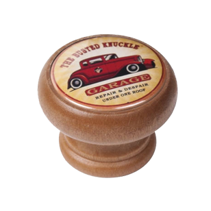 Garage Car Design Honey Colour Wood Knob