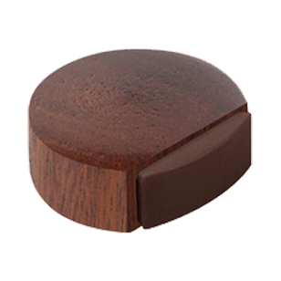 Sapele Wood Door Stopper With Adhesive - 45X42X16mm
