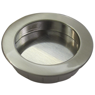 Flush Cabinet Knob - 50mm - Bright Chrome Finish
