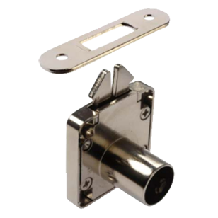 Roller Shutter lock housing with striking plate - Nickel Plated Finish