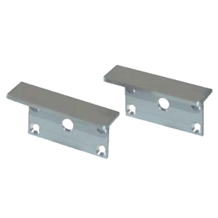 Set of terminal end caps square for exit NCT with fixing screws - 45X19mm - Silver Finish