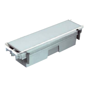 I-Pass Complete Set - Access Plate - 413X105.5mm - Box for power block with fixing brackets - Frame in aluminium - Silver Finish