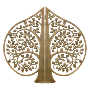 ACE TREE Design Door Pull Handle - Antique Brass Finish - 15 Inch