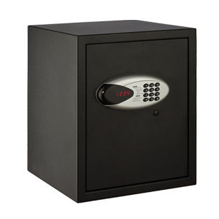 Electronic Motorized Digital Safe with LED Display Screen - H420mmXW350mmXD360mm - Black Colour
