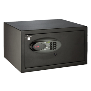Electronic Motorised with Card Swipe Safe - (H) 250 X (W) 455 X (D) 375mm - Black Colour