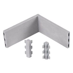 Two Side Connector - Grey - 90mm