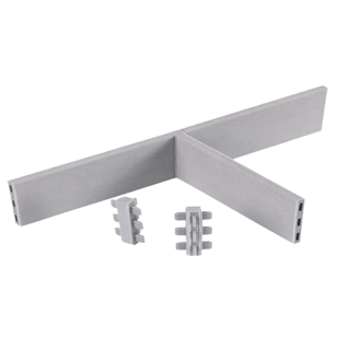 Three Side Connector - Grey - 90mm