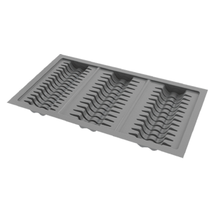 Dish Plate Grey. Antistatic Plastic Material - Grey - 850X450mm - Cabinet - 900