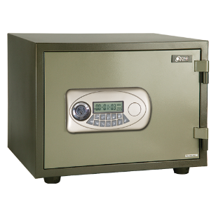 Electronic Safe Fire Proof - 50Kg - Green Colour - (H):14.9X(W):19.5X(D):15.3 Inch