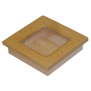 Sliding Flush Handle - 3X3 Inch - Teak Wood