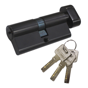Single Cylinder LXK (One Side Key & One Side Knob) - 70mm - Graphite Finish