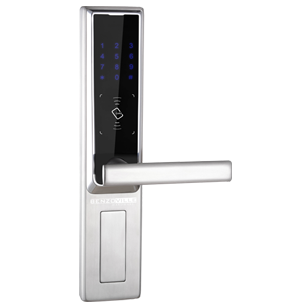 Keypad Digital Door Lock with password and Key - SS Finish - Right side