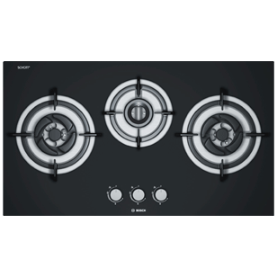 Bosch Gas Hobs - 78.5 cm - 3 Burner - Black Tempered Glass
