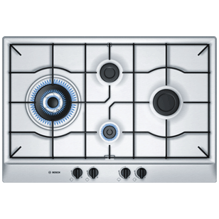Gas Hobs with Integrated Controls - 75 cm - 4 Burner - Stainless Steel Finish
