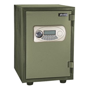 Electronic Safe Fire Proof - Green - 355X525X390 mm