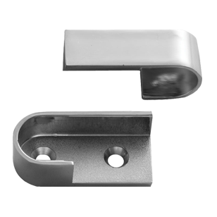 Oval Pipe Bracket - Chrome Plated Finish