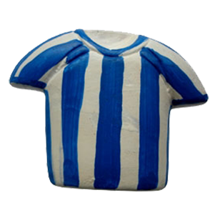 Blue Stripes T-Shirt Cabinet Knob
