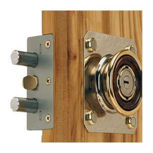 Night Latch  - Stainless Steel / Antique Brass Finish