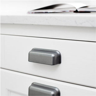 PORT Cabinet Handle - CC 96mm - Antique Grey Finish