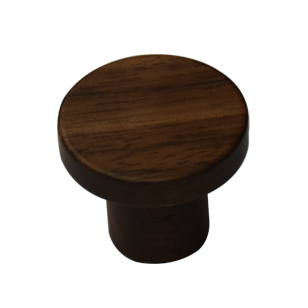 Circum Cabinet Knob - 33mm - Walnut Clear Lacquered Finish