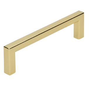 Cabinet Handle - 104mm - Bright Brass Finish
