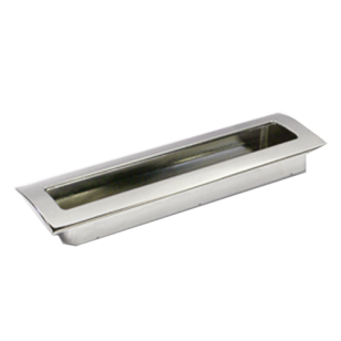 Cabinet Flush Handle - 160mm - Bright Chrome