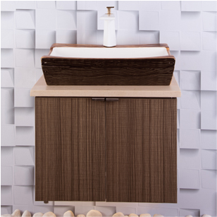 Bathroom Vanity Cabinets with Designer Laminate Shutters - 750 Width - Cabinet SS 304 Grade
