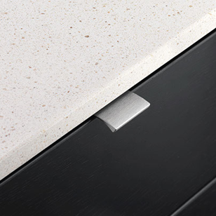 Aluminium Cabinet Handle - 40mm - Brushed Anthracite Finish