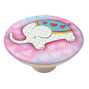 Colourful Elephant Design Cabinet Knob for Children Room - 50mm - ABS